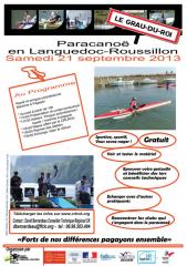 journée,para canoë,septembre,2013,gard,grau du roi,comité régional,lr,canoë,kayak