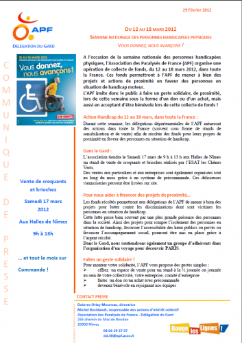 semaine,nationale,personnes,handicapées,physiques,mois,mars,2012